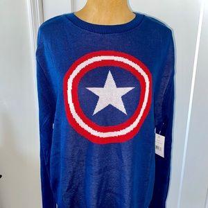 Marvel captain America Sweater Sz large